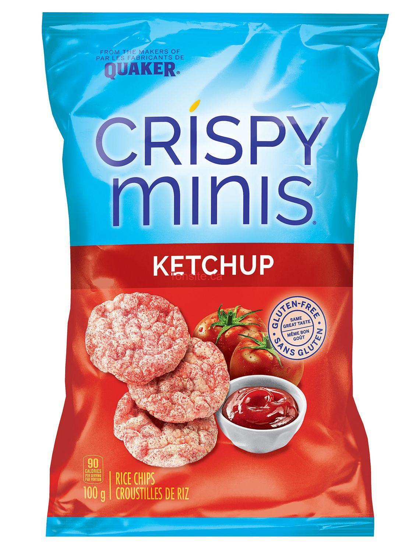 crispy minis100g - Croustilles de riz ou galettes de riz Crispy Minis Quaker (100g) à 66¢ au lieu de 1.99$