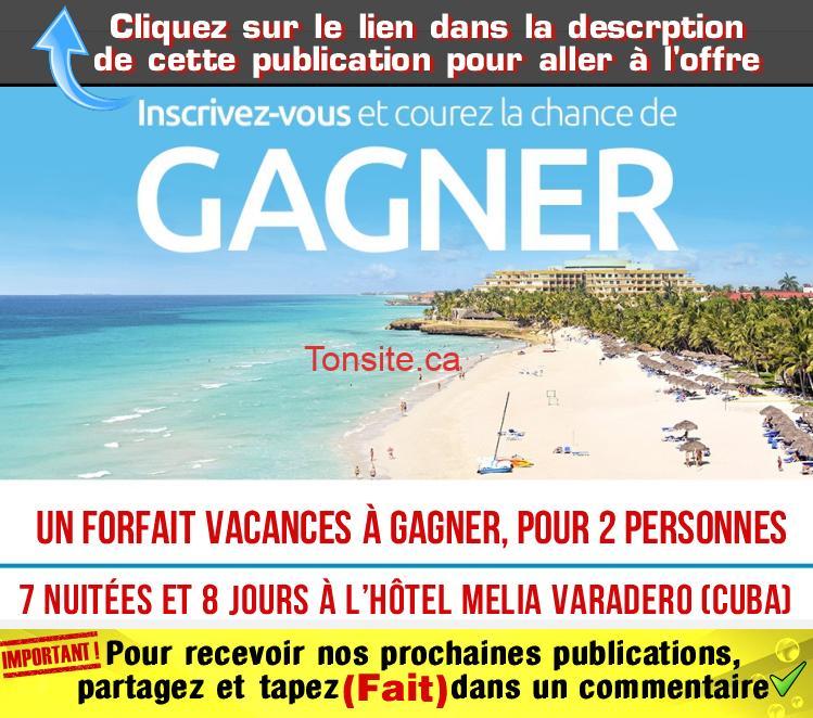 cuba1 - Concours: Gagnez un forfait vacances pour 2 personnes à l'hôtel Melia Varadero (Cuba)