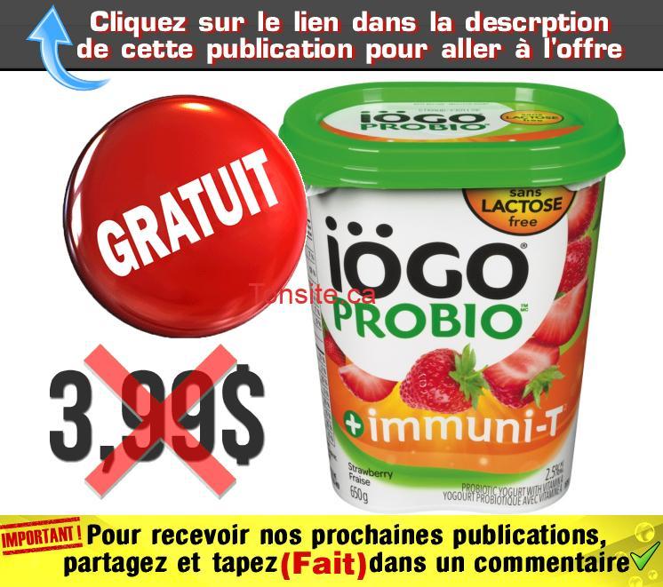 iogo 650 gratuit - Obtenez un pot de yogourt probiotique IÖGO (650 g) gratuitement !