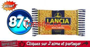 lancia 87 1 - Pâtes alimentaires Lancia à 87¢ seulement!