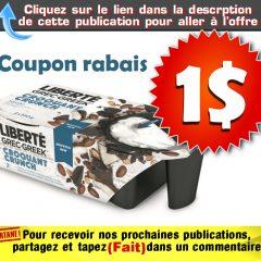 liberte croquant coupon 1 240x240 - Coupon rabais de 1$ sur un emballage de Liberté Grec Croquant (2x130)