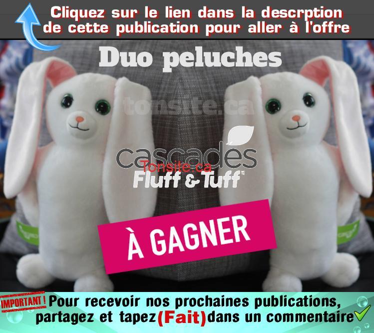 peluches cascades concours - Concours: Gagnez un duo de peluches Cascades Fluff & Tuff