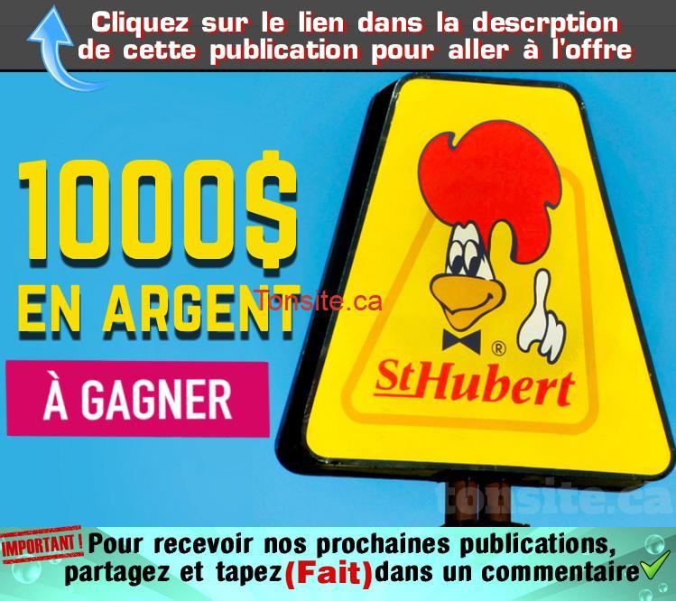 st hubert concours 1000 - Concours St-Hubert : 1,000$ à gagner chaque mois!