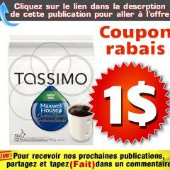 tassimo coupon rabais 240x240 - Coupon rabais de 1$ sur un produit Tassimo au choix