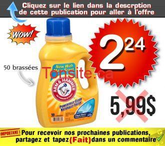 arm 224 599 - Détergent à lessive liquide Arm & Hammer (50 brassées) à 2,24$ au lieu de 5,99$