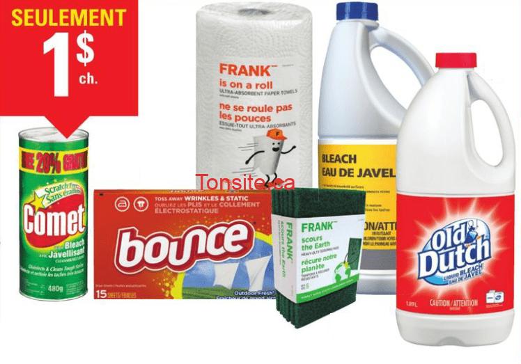 ct01 - Aubaine de la semaine: Produits ménagers à 1$ seulement!