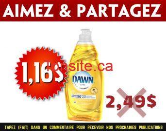 dawn 116 249 - Liquide à vaisselle Dawn Ultra à 1,16$ au lieu de 2,49$