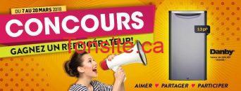 domon concours - Participez et gagner un réfrigérateur de marque Danby