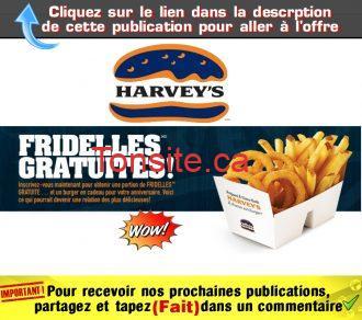 fridelles harveys - Harvey's: Obtenez une portion de fridelles gratuite!