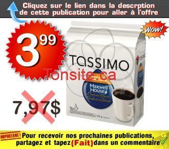 tassimo 399 797 - Café en portions individuelles Tassimo à 3,99$ au lieu de 7,97$