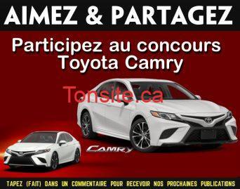 toyota camry concours - Participez et gagnez la toute nouvelle Toyota Camry XSE V6