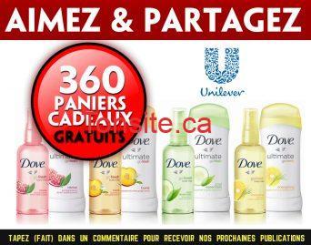 unilever gratuit - 360 paniers-cadeaux de produits de beauté Unilever gratuits!