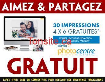 walmart photos gratuits - Walmart: Obtenez 30 impressions photos 4 x 6  gratuites