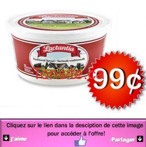 LACTANTIA 99 JPG - Tartinade Lactantia à 99¢ au lieu de 2.99$
