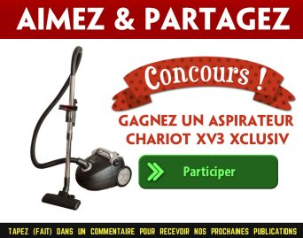 XV3 CONCOURS - Gagnez un aspirateur chariot XV3 Xclusiv d'une valeur de 189,99$