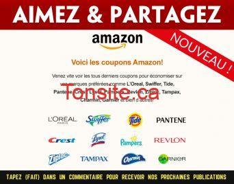 amazon coupons - Nouveaux coupons rabais Amazon sur Websaver