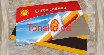 carte cadeau shell - 4 Cartes-cadeaux Shell de 2500$ chacune à gagner