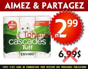 cascades 299 699 - Emballage de 6 rouleaux Jumbo de papier essuie-tout Cascades Tuff à 2,99$ au lieu de 6.99$