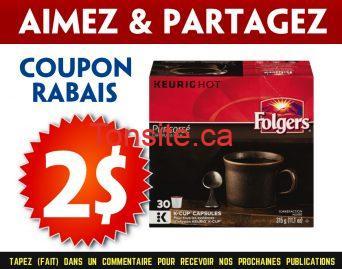 folgers coupon2 - Coupon rabais de 2$ sur une boîte de 30 capsules K-Cup Folgers