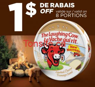 lavache qui rit fume coupe - Coupon rabais de 1$ sur une boîte de 8 portions deu fromage La Vache Qui Rit Naturellement Fumé