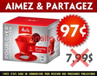 melitta 97 799 - Infuseur à café-Cone d'infusion de Melitta à 97¢ au lieu de 7,99$