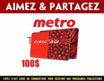 metro carte100 jpg - Concours: Gagnez une carte-cadeau Metro de 100$