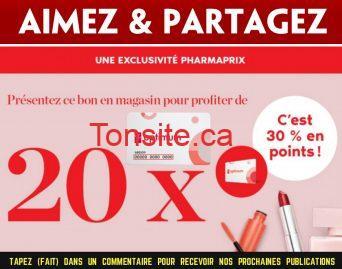 pc optimum pharmaprix - Obtenez 20X les points PC Optimum