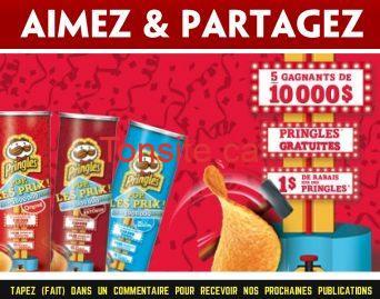 pringles concours2 - Concours Pringles: Gagnez 1 des 5 prix de 10000$ + prix instantanés