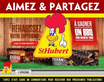 st hubert concours3 - Concours St-Hubert: Gagnez un BBQ d'une valeur de 1000$