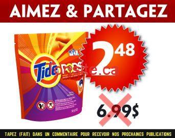 tide pods 248 699 - Paquet de 14 capsules Tide Pods à 2.48$ au lieu de 6,99$