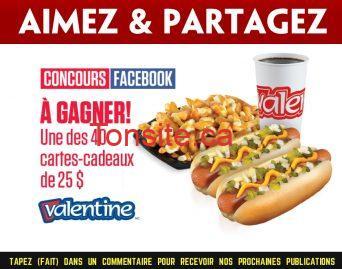 valentine concours - Gagnez une des 40 cartes-cadeaux Valentine de 25$