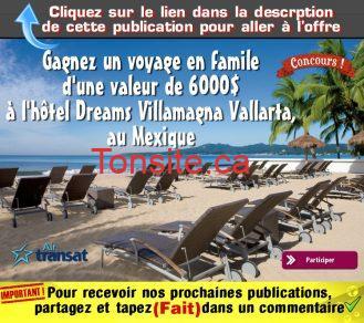 air transat concours4 - Gagner un voyage en famille d'une valeur de 6000$ à l'Hôtel Dreams Villamagna Nuevo Vallarta, au Mexique