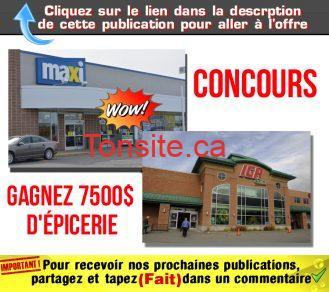 concours maxi iga - Gagnez 7500$ d'épicerie chez IGA ou Maxi