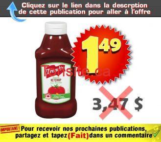 frenchs 149 347 - Ketchup French's (1 L) à 1,49$ au lieu de 3,47$
