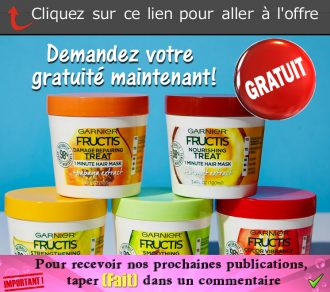 garnier fructis masque echantillon - GRATUIT: Obtenez un échantillon gratuit du nouveau masque capillaire Fructis Hair Treats de Garnier