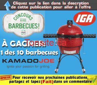 iga concours ete 2018 - Concours IGA: Gagnez 1 des 10 barbecues Kamado Classic Joe 18'' Rouge avec chariot