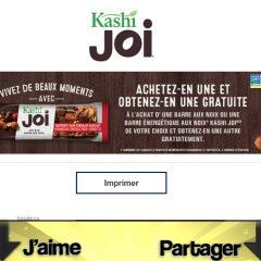 kashi joi coupon 240x240 - Coupon rabais: Achetez une barre aux noix ou une barre énergétique aux noix Kashi Joi et obtenez-en une autre gratuitement