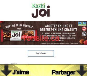 kashi joi coupon - Coupon rabais: Achetez une barre aux noix ou une barre énergétique aux noix Kashi Joi et obtenez-en une autre gratuitement