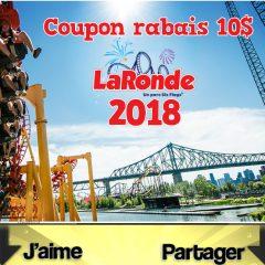 laronde coupon 240x240 - Coupon rabais de 10$ La Ronde 2018
