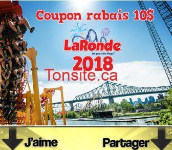 laronde coupon - Coupon rabais de 10$ La Ronde 2018