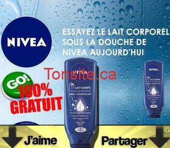 nivea echantillon1 - GRATUIT: Obtenez un échantillon gratuit du nouveau lait corporel sous la douche nourrissant de NIVEA