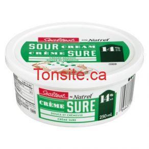 sealtest250ml - Crème sure Sealtest à 1$ seulement