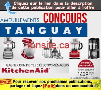 tanguay concours13 - Concours Ameublements Tanguay: Gagnez un des cinq petits appareils électroménagers Kitchenaid
