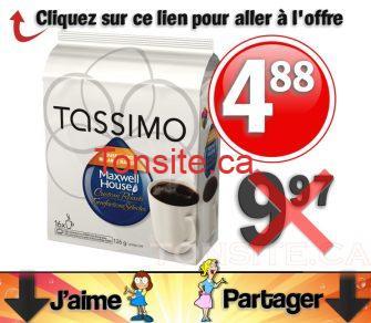 tassimo 488 jpg - Café en portions individuelles Tassimo à 4,88$ au lieu de 9,97$
