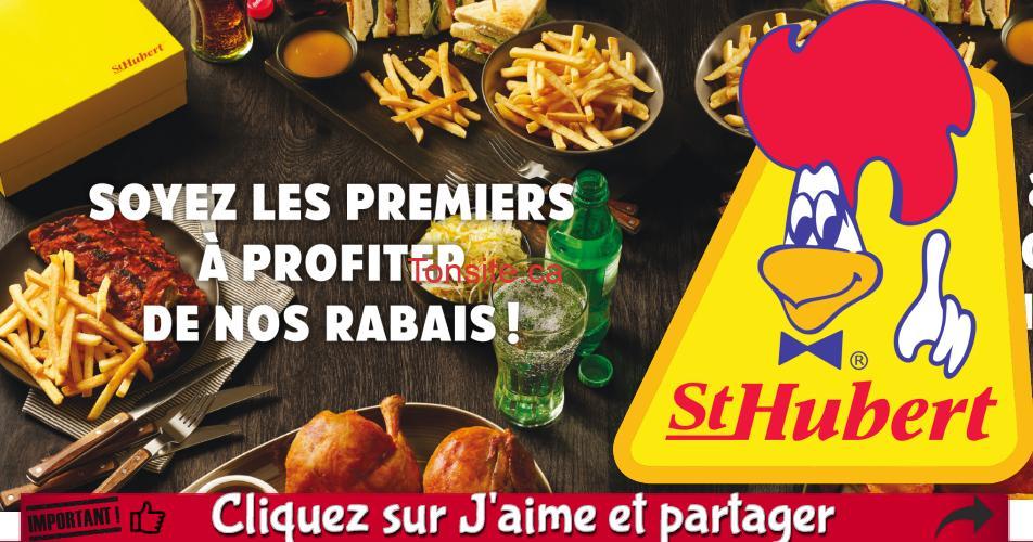 ST HUBERT COUPONS - Nouveaux coupons rabais St-Hubert