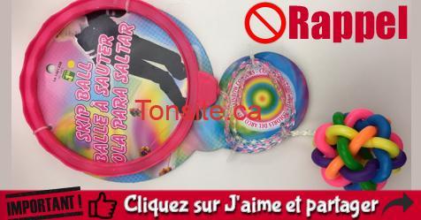 balle a sauter rappel - Rappel de sécurité: Dollarama rappelle les balles à sauter pour enfants!