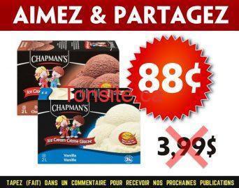 chapmans 88 399 - Crème glacée Chapman's à 88¢ au lieu de 3,99$