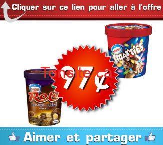 creme glace 97c - Crème glacée Nestlé à 97¢ (sans coupon)