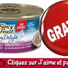 fancy feast echantillon 1 240x240 - Obtenez un échantillon du produit Purina Fancy Feast Creamy Delights pour votre chat