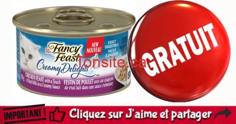 fancy feast echantillon 1 - Obtenez un échantillon du produit Purina Fancy Feast Creamy Delights pour votre chat